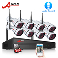 ANRAN Wi-Fi камера безопасности системы 8CH NVR с 1080P HD аудио запись открытый ночное видение IP камера беспроводной системы скрытого видеонаблюдения