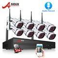 ANRAN Wifi Sicherheit Kamera System 8CH NVR Mit 1080 p HD Audio Record Outdoor Nachtsicht IP Kamera Drahtlose Überwachung system