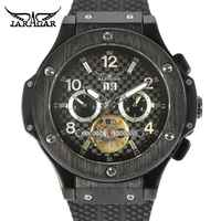 Jaragar Racing Tourbillion Design Sport Rubber Band Military Fashion Calendar Mens Top Brand Luxury Automatic Mechanical