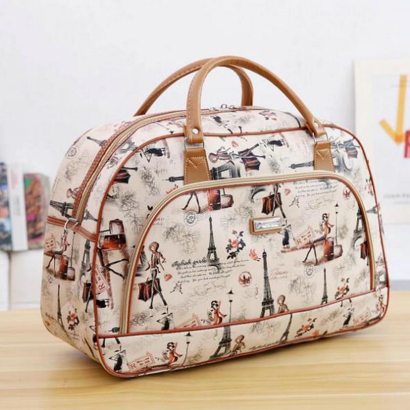 Image 4 - Women Travel Bags 2019 New Fashion PU Leather Large Capacity Waterproof Print Luggage Duffle Bag Men Casual Travel Bags LGX28-in Travel Bags from Luggage & Bags