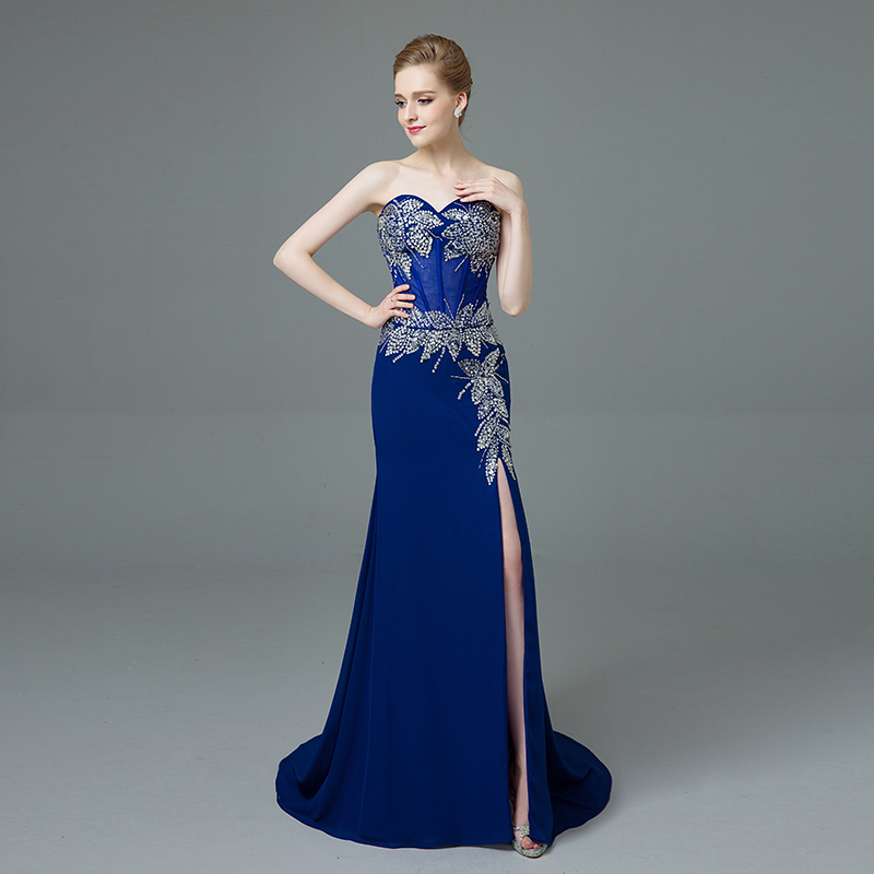 Popular Gorgeous Prom Dresses Blue-Buy Cheap Gorgeous Prom Dresses ...