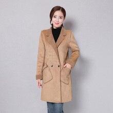 Мода Новый Зимняя Куртка Женщин Пальто Хлопка Женщин Искусственной Замши Искусственной Шерсти Ягнят женщин Одежда Теплая Куртка И Пиджаки Пальто
