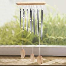 Фотография 2017  Relaxing Wood Copper Tubes Wind Chimes Bells Bring Silvery Sound To The Garden Home Decor Gift carillon de jardin Whosales