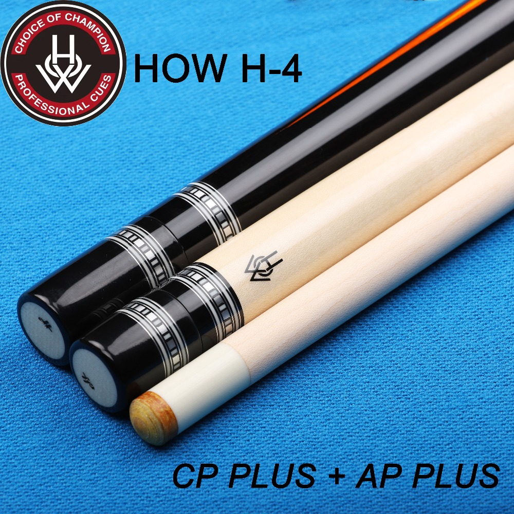 HOW Offical Store HOW H-4 Cue With 2 Shafts (AP PLUS+CP PLUS) Professional Pool Cue Stick Black 8 Cue Billiards Cue Double Shaft