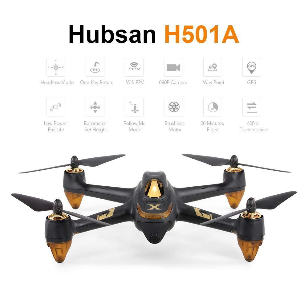 Hubsan X4 AIR H501A Pro 5.8G FPV 1080P Wifi FPV RC Quadcopter Brushless GPS Drone with 400m Range Wifi Relay Signal Booster D30