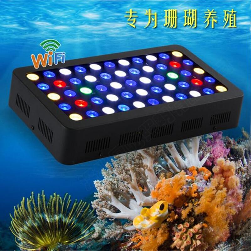 WIFI chaud 165 w lumière LED d'aquarium Dimmable pour l'usine DE poissons DE récif DE corail lampe DE LED pour aquarium Marine à spectre complet CN/USA/DE Stock