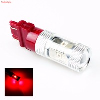 2*3157 P27/7 Watt W2.5X16Q 12 V 24 V Rote LED Auto Glühbirne 6X5 Watt 30 Watt High Power für Blinker Brems Parkplatz Schwanz licht (Pack of 2)