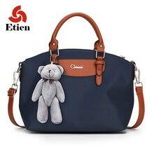 Frauen tasche frau handtasche luxus designer umhängetaschen Nylon Bär Anhänger Messenger Bags hohe qualität heißer handtaschen frauen taschen