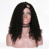 Eversilky 130%-180% Density Kinky Curly Wig U Part Wig Human Hair Wigs For Black Women Peruvian Remy Hair Left Part Wigs