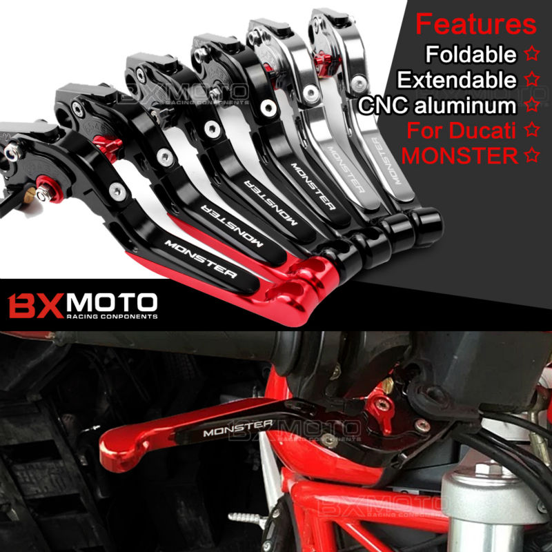 CNC Motorcycle accessories Adjustable Extendable Brake Clutch Lever for ducati monster 821 2014-2017 HYPERMOTARD 821/STRADA for ducati monster 821 hypermotard 821 strada 14 15 motorcycle cnc billet aluminum folding extendable brake clutch levers
