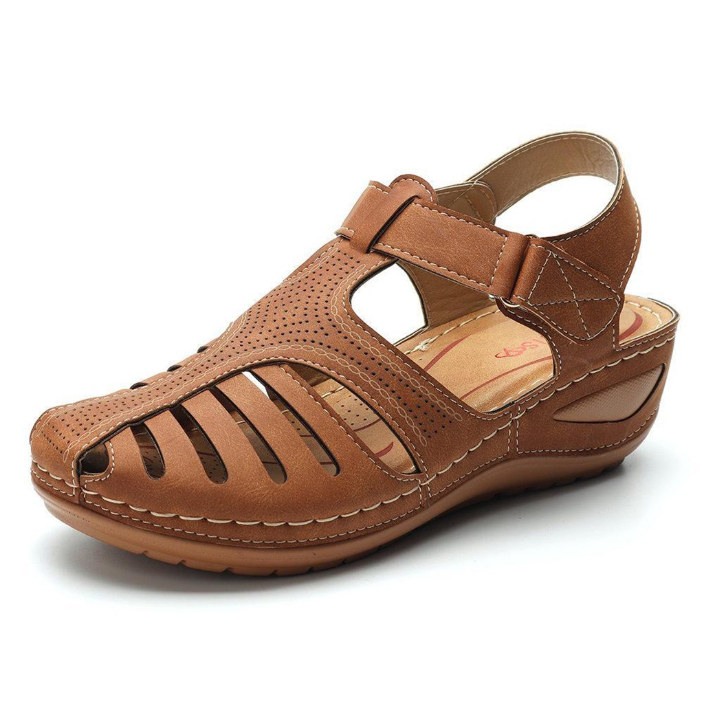 HTB1S 3ZXrr1gK0jSZFDq6z9yVXam Women's Sandals Shoes Ladies Girls Comfortable Ankle Hollow Round Toe Sandals Soft Sole Shoes Fashion Large Size Sandals Shoes