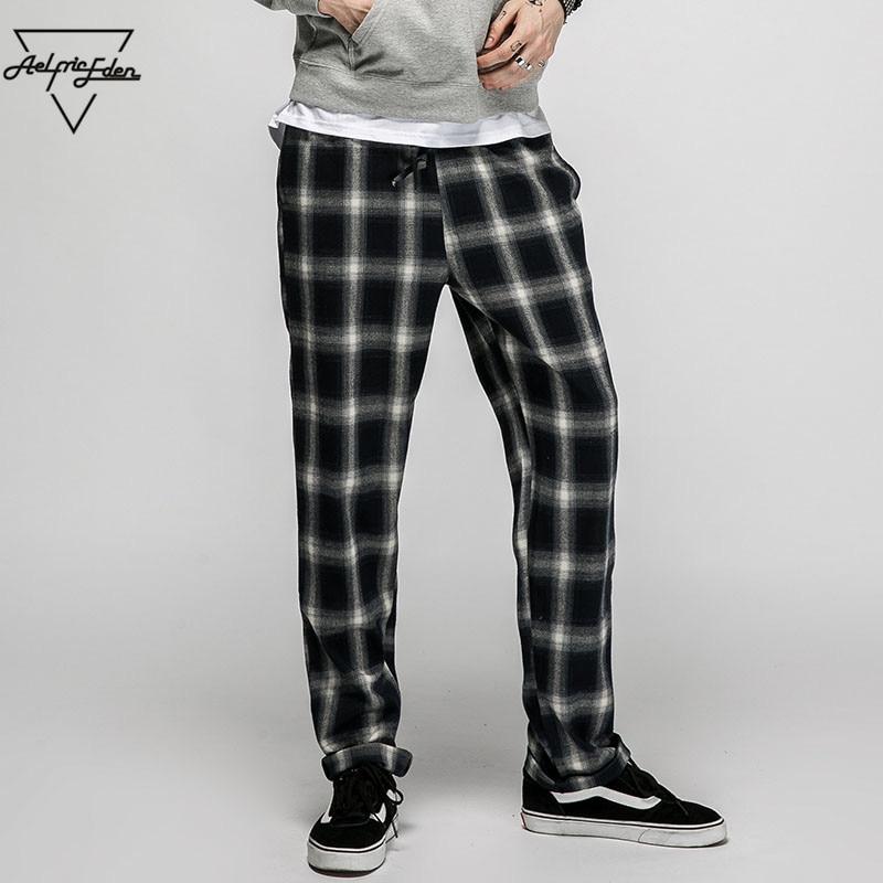 Aelfric Eden Boys Polyester Pants Mens Sweatpants Plaid Casual Joggers Pants Hip Hop Trousers ...