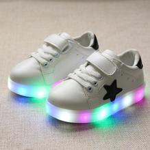 Retail shoes con luz 2017 otoño muchachas de los bebés shoes chaussure enfant led niño zapatillas de deporte respirables jóvenes eu21-30