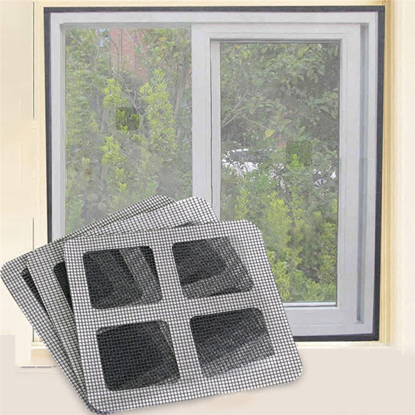 Drop shipping Wholesales 3pcs 6pcs 9pcs Fix Your Net Mesh Window Screen for Home Anti Mosquito
