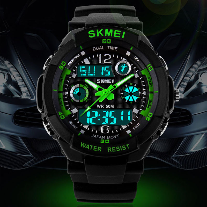 Skmei Digital Men Watch Analog S Shock Men military Quartz Watch Waterproof Date Calendar LED Sport Watches relogio masculino