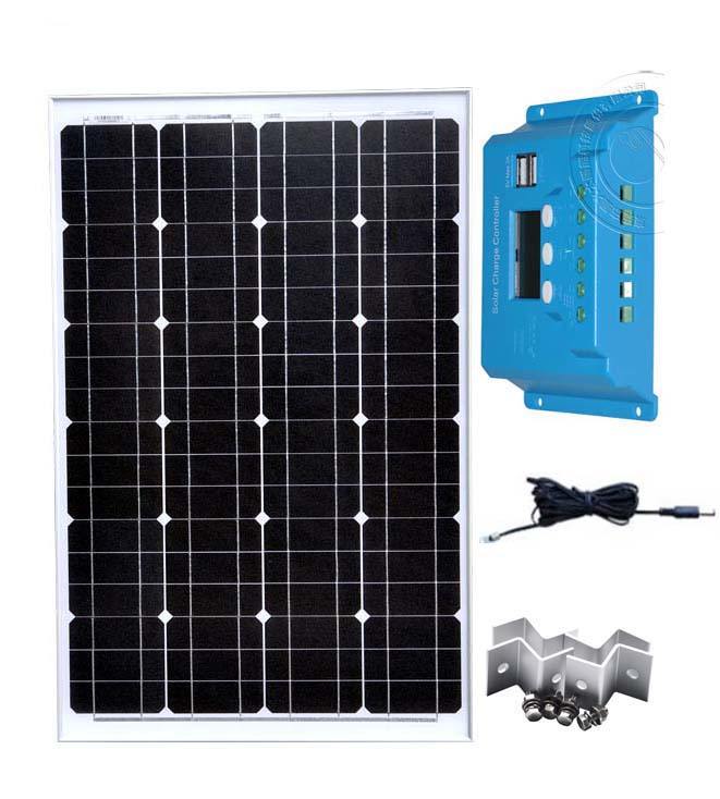 Portable Solar Panel Module Kit 12v 60w Batterie Solaire Solar Charge Controller LCD 12v 24v 10A Connection Cable Car Camp Boat in Solar Cells from Consumer Electronics