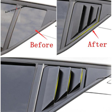 Yimaautotrims Rear Tail Spoiler Triangle Wing Louver Window Scoop Cover Trim Fit For Toyota C-HR CHR 2016 2017 2018 2019 ABS