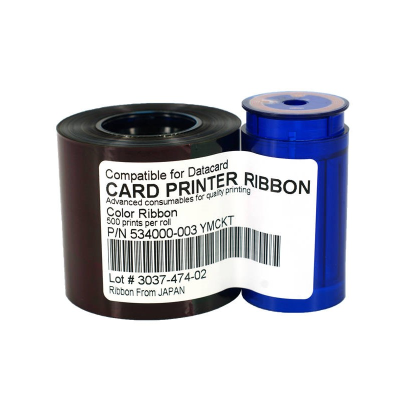 Compatible Datacard 534000-003 YMCKT Color Ribbon for SP35 SP35Plus SP55 SP55Plus SP75 SP75 Plus Card Printer 500 prints/roll datacard 535000 003 ymckt ribbon datacard cp80 card printer ribbon ymckt color ribbon