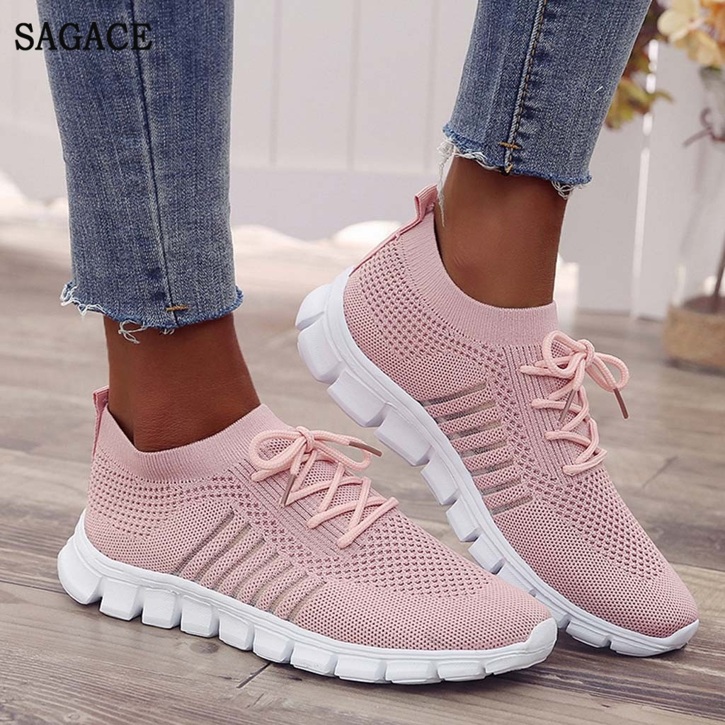 SAGACE Vulcanized Sneakers Shoes Walking Autumn Summer Casual Women Ladies title=