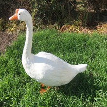 big Simulation goose toy polyethylene&furs white goose model gift about 70x27x70cm y0074