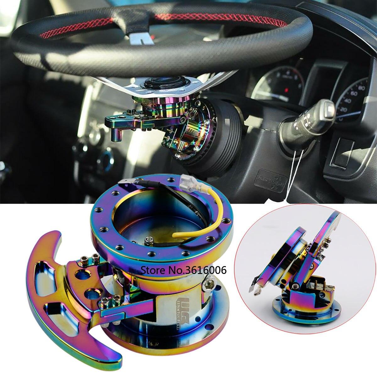 Color : Black Works Bell GTC Tilt Racing Steering Wheel Quick Release Hub Kit Adapter Body Removable Snap Off Boss Kit