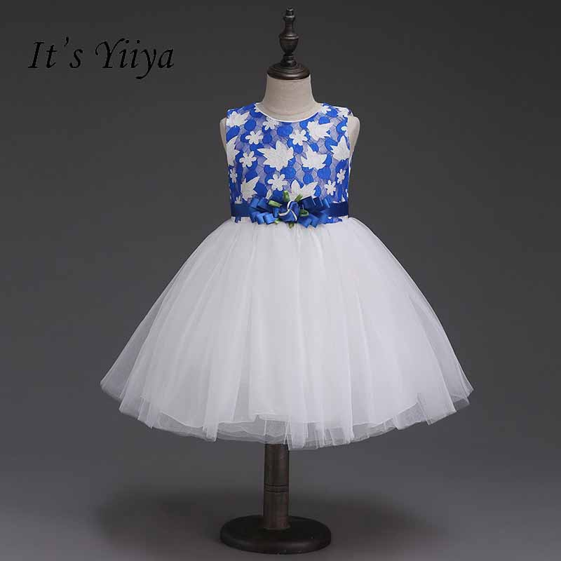 Its Yiiya Lace Zipper Flower Girl Dress Pattern Kid Child Cloth Bow