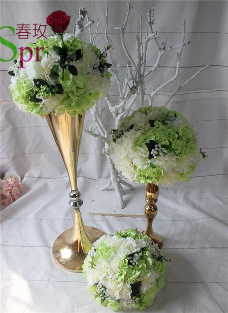 70cm Tall Wedding Flower Vase Gold Flower Stand For Wedding
