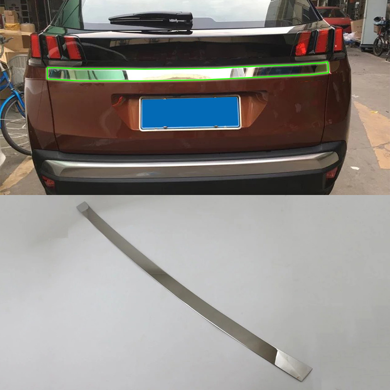 OUBOLUN car accessories Car body kits stainless steel rear trunk streamer For <font><b>Peugeot</b></font> <font><b>4008</b></font> <font><b>2016</b></font> image
