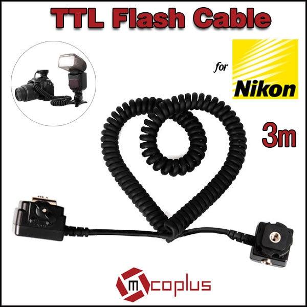 Mcoplus SC28 3 m i-TTL TTL Off Flash Sync Shoe Cord Cavo per Nikon SB-900 SB-SB-D7100 D7000 D5100 D5000 D3100 D3000 D90