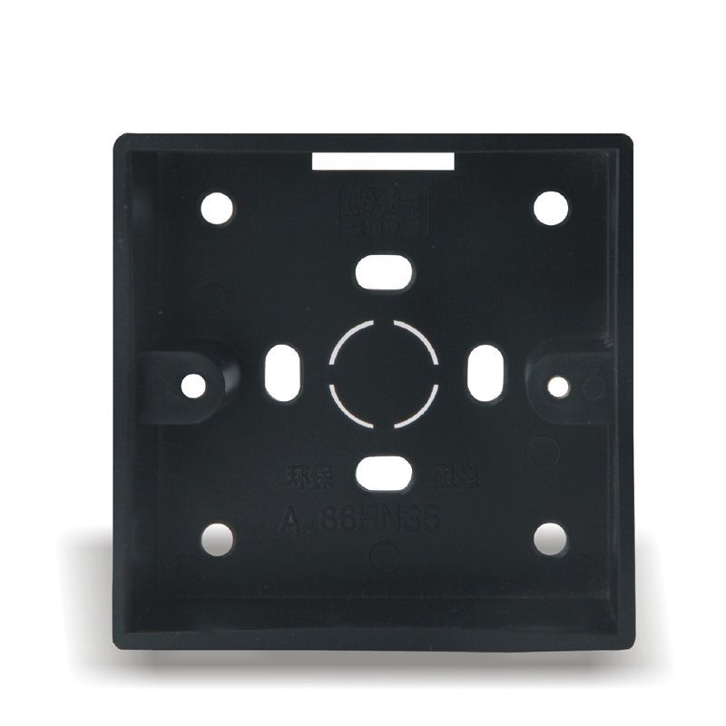 High Quality Home Improvement 86 Type Wall Switch Socket Wiring Bottom Box Surface Mounted Black
