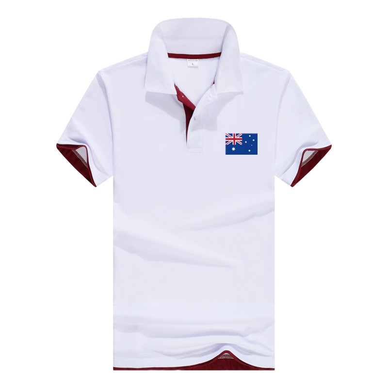 Men   Polo   2018 Australian flag printing Tops Short Sleeves Poloshirt Brand Clothing Camisa Masculina Casual   Polo   Shirt