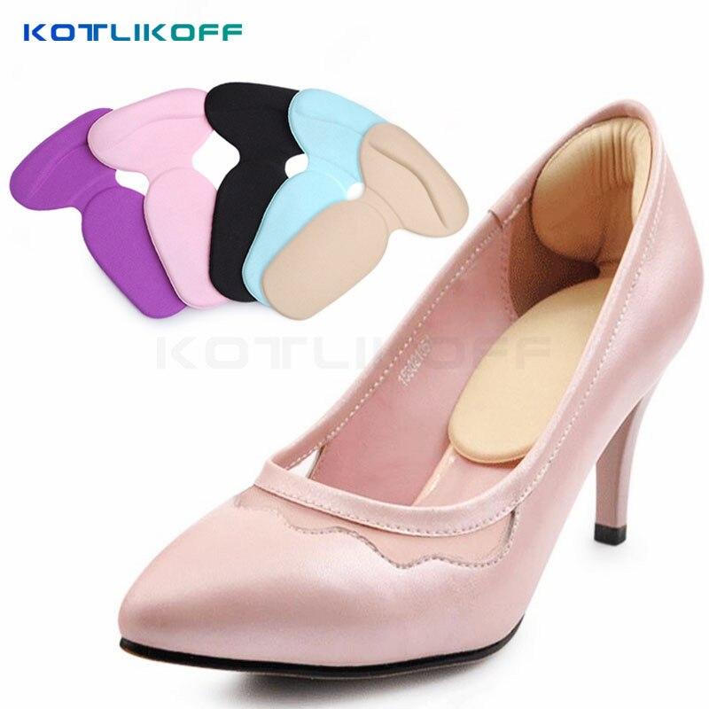 где купить KOTLIKOFF 2 Pair Foot Care heels gel pad scholls insoles tools anti-friction heel gel pad slim patch orthopedic shoes for Women дешево