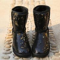 Fashion Australian Boots Women Snow Boots Bling Sparkles Winter Warm  Outdoor Boots Shoes Ivg Plus Size 130c28c247fe