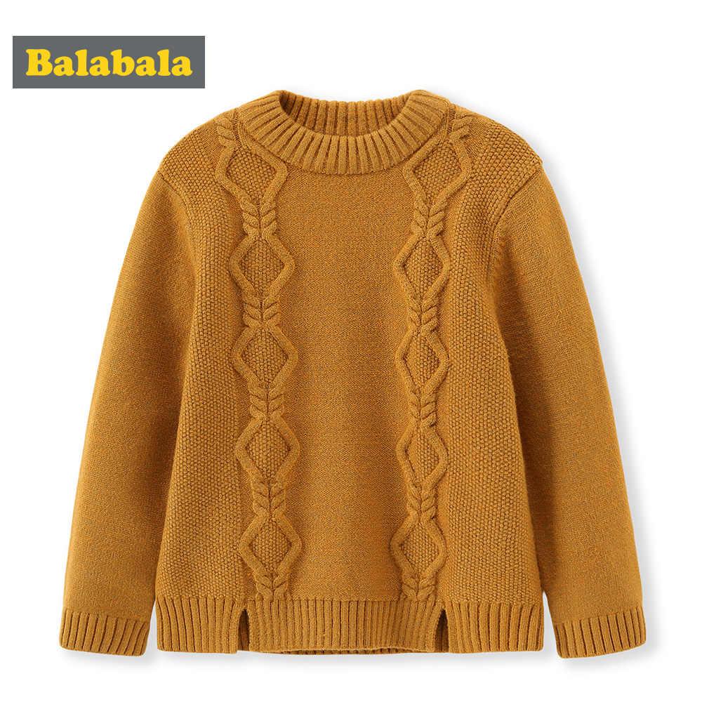 Balabala kinderen trui mode kinderen winter gebreide vesten trui voor meisjes jongens dikke warme trui uitloper kleding