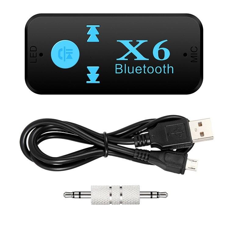 Senza fili di Bluetooth 4.0 Adattatore 3 in 1 USB Bluetooth Ricevitore Audio da 3.5mm Martinetti lettore di Schede di TF MIC Chiamata di Supporto per Altoparlante per Auto X6Senza fili di Bluetooth 4.0 Adattatore 3 in 1 USB Bluetooth Ricevitore Audio da 3.5mm Martinetti lettore di Schede di TF MIC Chiamata di Supporto per Altoparlante per Auto X6