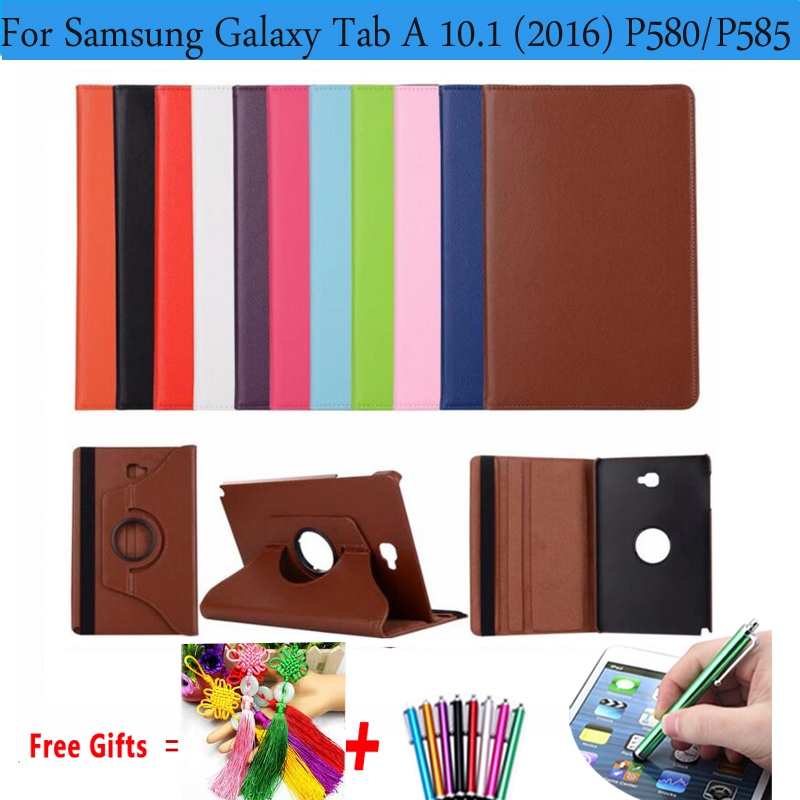 360 Degree Rotating PU Leather Cover for Samsung Galaxy Tab A 10.1 2016 T580 T585 Cases or S-Pen Version P580 P585 P580N P585N
