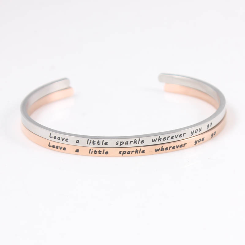 Jewelry & Accessories Dynamic Mix Colors 316l Stainless Steel Positive Inspirational Quote Cuff Mantra Bracelet Personalise Bangle For Women Men Jewelry Bracelets & Bangles