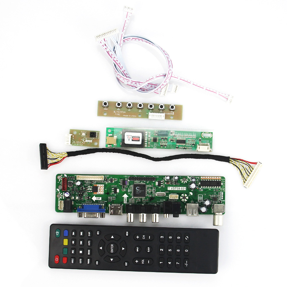 T.VST59.03 LCD/LED Controller Driver Board For LTN141XF-L01 LTN141X7-L06  (TV+HDMI+VGA+CVBS+USB) LVDS Reuse Laptop 1024x768