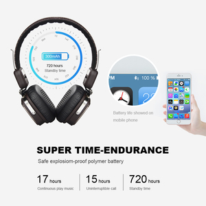 Image 3 - OneOdio Original Elysium Wireless Headphones Bluetooth Foldable Headset With Mic Metal Lightweight Headphone 500mAh Black/ Beige
