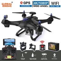 Глобальный Drone X183 Радиоуправляемый квадрокоптер с 4 К Спорт Камера 1080 P Ultra HD FPV WI FI вертолет Авто следовать gps Drone В Hubsan H501s