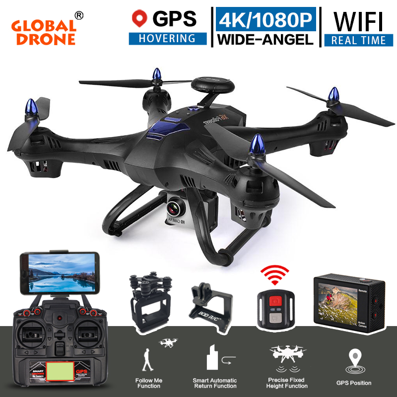 Global Drone X183 RC Quadrocopter with 4K Sport Camera 1080P Ultra HD FPV WIFI Helicopter Auto Follow GPS Drone VS Hubsan H501s цена в Москве и Питере