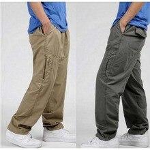 New Spring Summer Plus Size Men Cargo Pants Cotton Loose Trousers Men's Pants 3XL 4XL 5XL 6XL