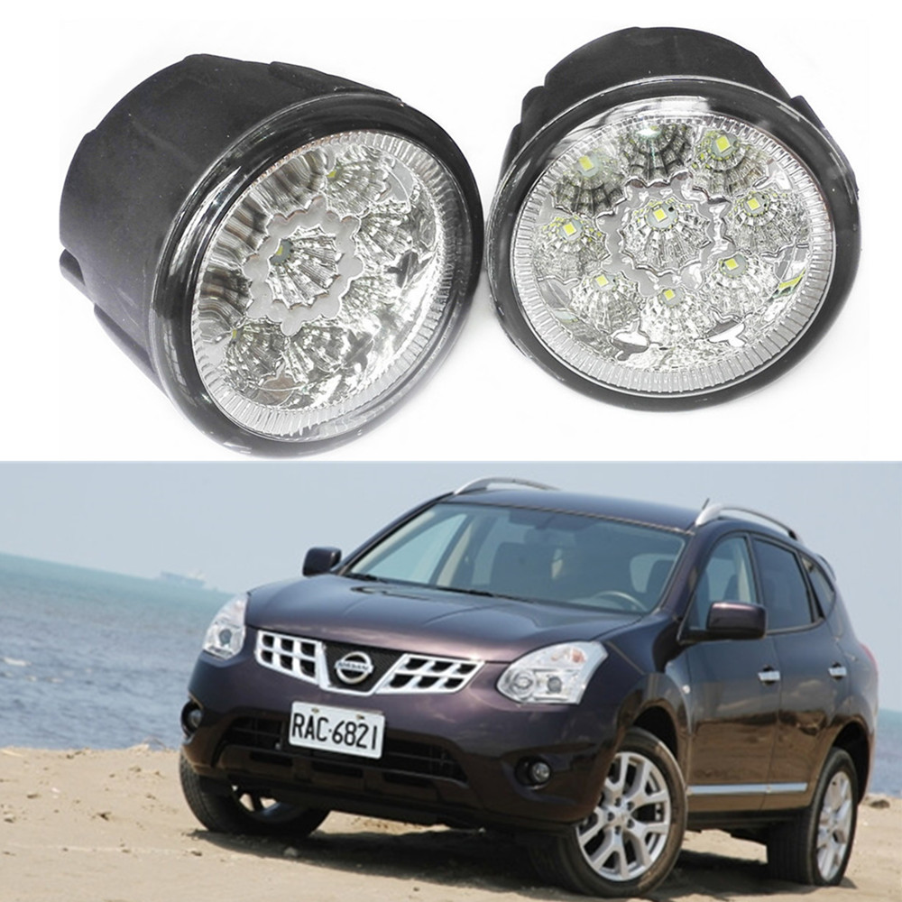Popular 2011 nissan rogue buy cheap 2011 nissan rogue lots from car styling led fog lamp lamps for nissan rogue 2010 2014 2 pcs lights drl vanachro Gallery