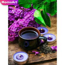 MomoArt Diamond Painting Scenic Embridery Full Square Rhinestone Mosaic Flowers Home Decoration