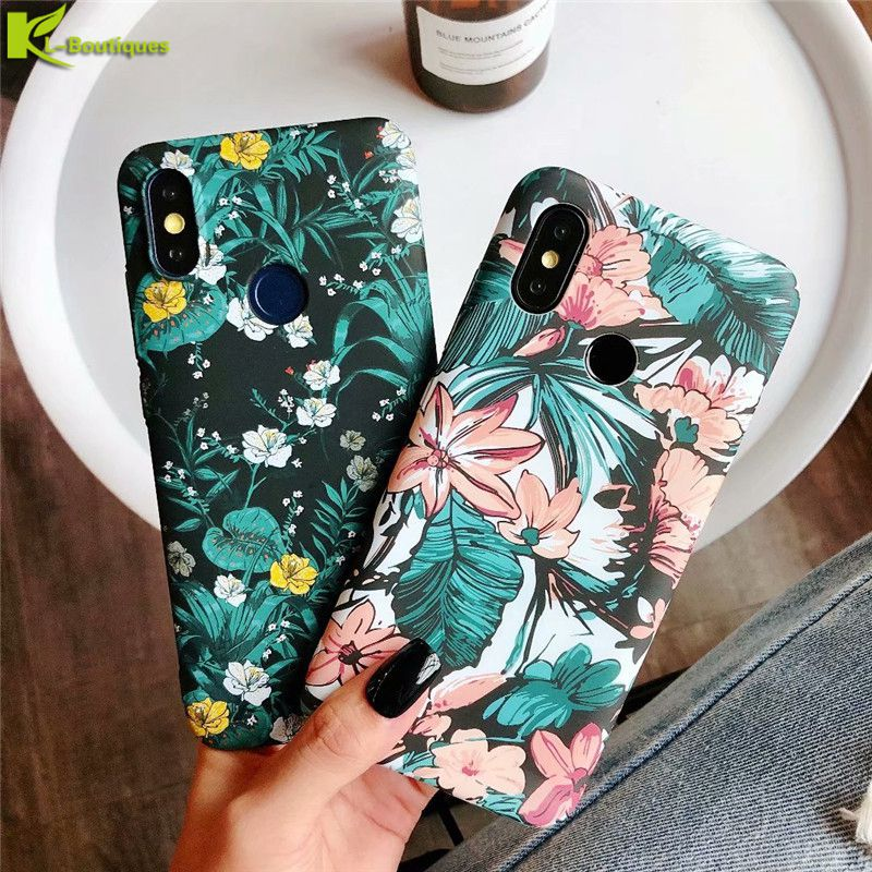 Global Version Xiaomi Redmi Note 5 Case on for Xiaomi Redmi Note 5 Pro Cover Retro Flower Plants Leaves Matte Hard Cases Coque