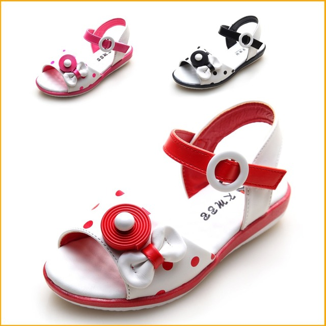 5449c0424 High quality kroean stylye summer kids sandals china shoe girl child  wholesale only Large Bow size