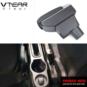 Image 2 - Vtear For renault duster accessories armrest USB interface arm rest Center Console car styling leather Storage Box interior 2018