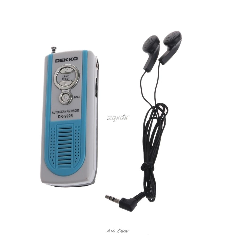 Radio Mini Tragbare Auto Scan Fm Radio Empfänger Gürtel Clip Mit Taschenlampe Kopfhörer Fm 87-108 Mhz Dk-9926 Gebaut In Laut Lautsprecher Der Preis Bleibt Stabil