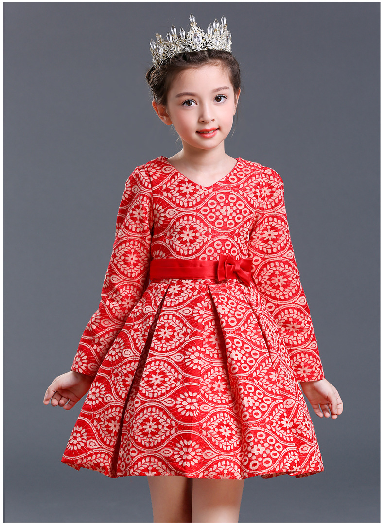 Long Sleeve Flower Girl Dresses for Toddler Girl Dresses A-Line Pageant Dresses for Girls Tulle Mother Daughter Dresse