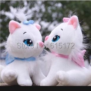 2pcs 16cm Mini Kawaii Cute Classic Cartoon White Marie Cat Stuffed